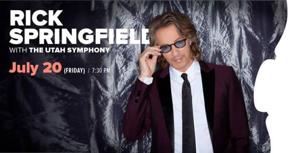 Rick Springfield & The Utah Symphony at Snow Park Outdoor Amphitheater